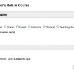Minor change when changing roles in Blackboard Site