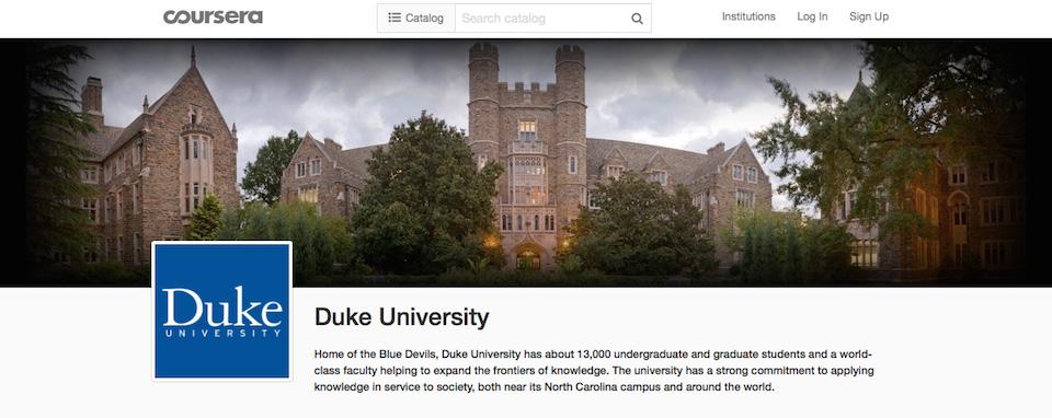 duke's coursera page