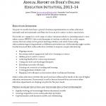 2013-2014 Online Duke annual report