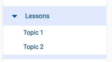 Lessons Sub Menu