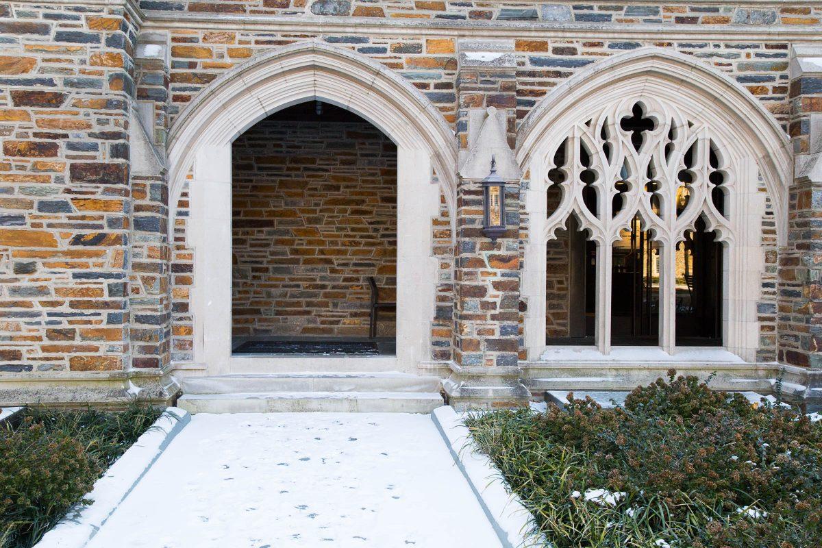gothic architecture details on west campus