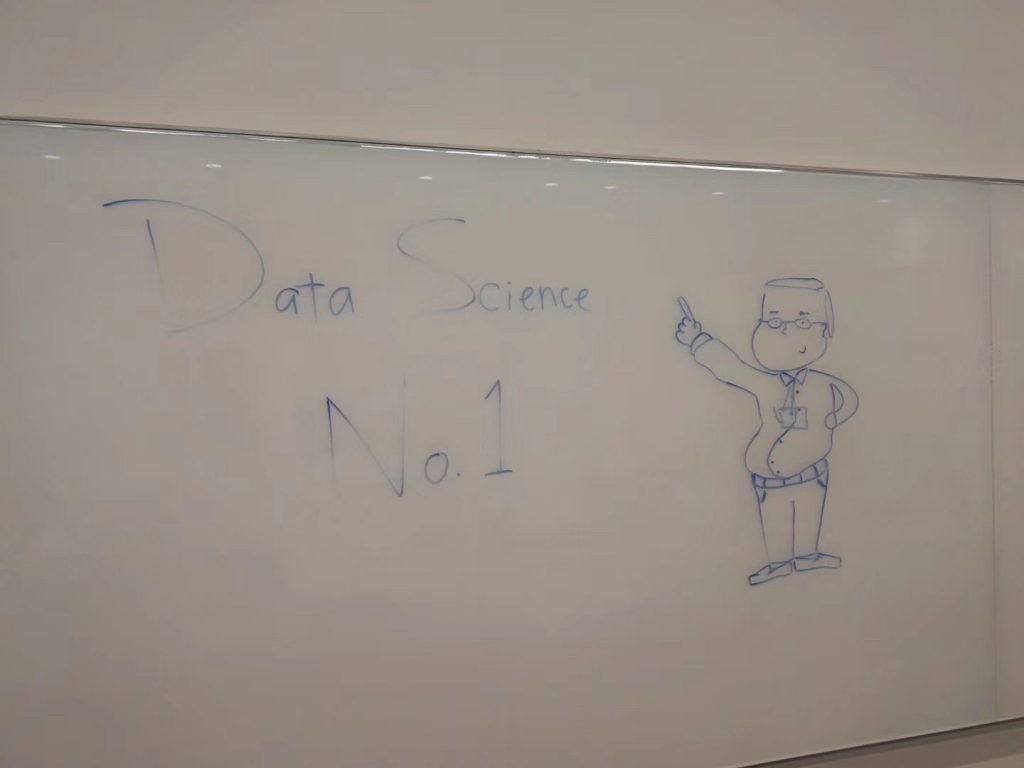Whiteboard drawing of Dr. Ming Li