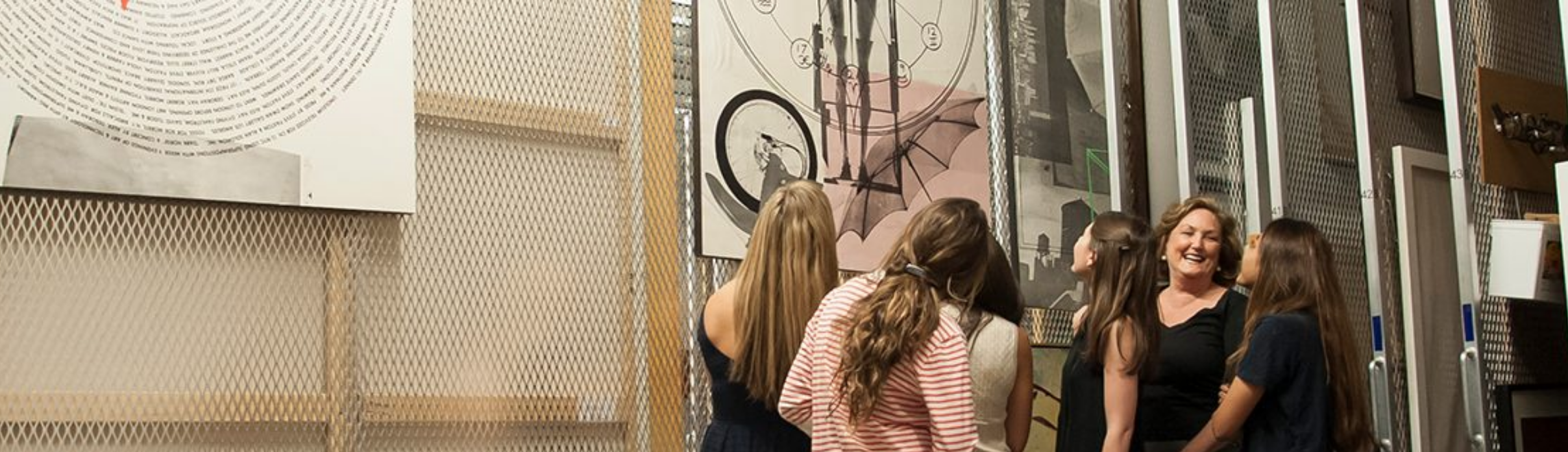 Faculty and students using the Nasher's study collection