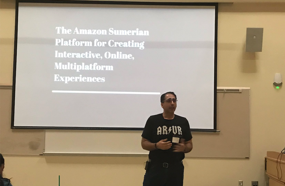 Enrique Cachafeiro, Duke OESO Administration, presents at the 2019 Serious Play Conference