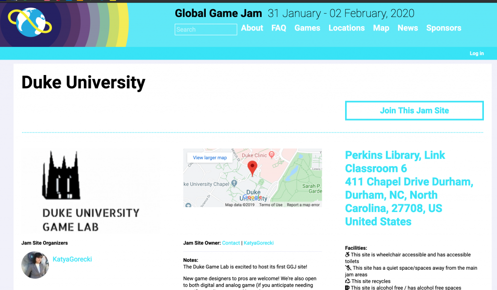 Global Game Jam site