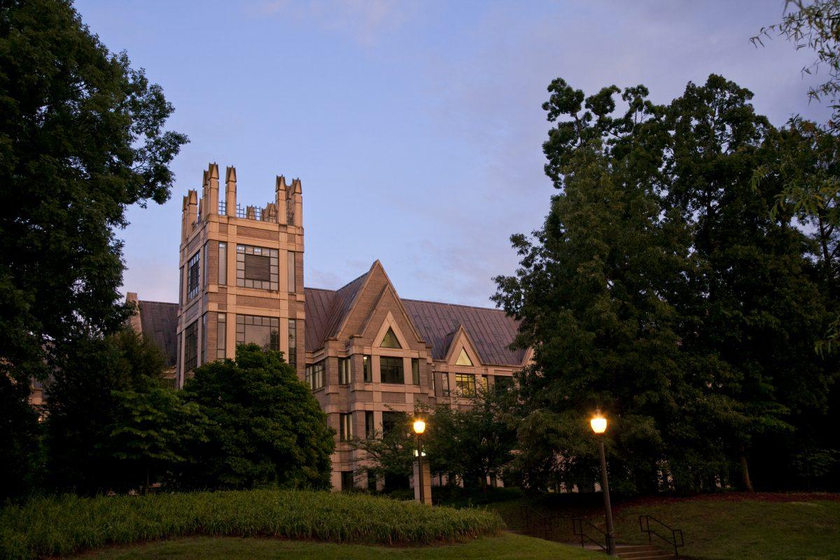 Sanford school at twilight.
