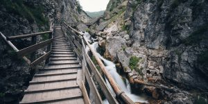 Stairway in rock