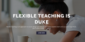 Screenshot of the Flexible Teaching homepage.