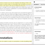 Integrating Social Annotation into Your Course: What Tool is Right for You?