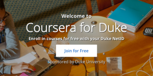 Coursera for Duke banner