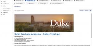 Sakai Site Graduate Academy