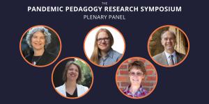 Graphic of headshots of the 5 plenary panelists